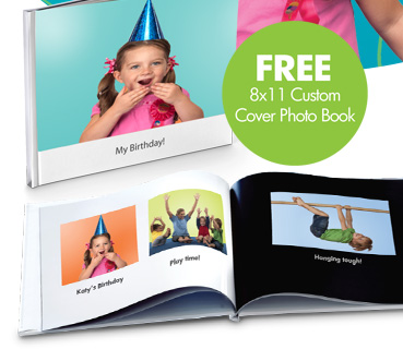 FREE 8x11 Custom Cover Photo Book