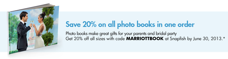 Save 20% on Photo Books in one order - Photo books make great gifts for your parents and bridal party